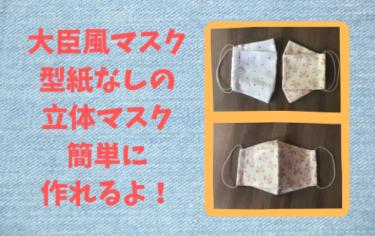 西村大臣風の立体マスク作ってみました!型紙なしで簡単!